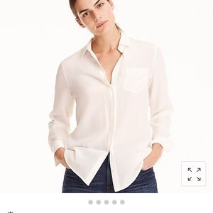 J. Crew Silk Button-Up Blouse - Size 6